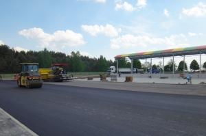 CDiPR Słowików- prace wykończeniowe i asfalt